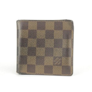 Louis Vuitton Damier Ebene Mens Bifold Wallet 4LK1221