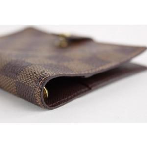Louis Vuitton Damier Ebene Small Ring Agenda PM Diary Cover 5LVS1214