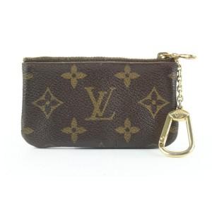 Louis Vuitton Monogram Key Pouch Pochette Cles Keychain 217lvs210