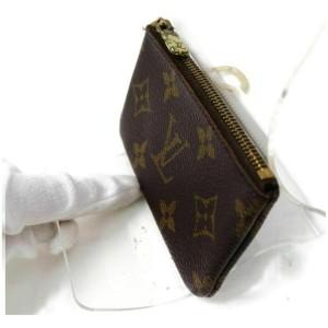 Louis Vuitton Monogram Key Pouch Pochette Cles Keychain 861229