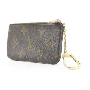 Louis Vuitton Monogram Pochette Cles Key Pouch Keychain 862813