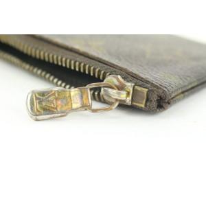 Louis Vuitton Monogram Key Pouch Porte Cles Keychain 15lvs113