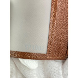 Louis Vuitton Brown Leather Card Case Wallet Holder 1lv527
