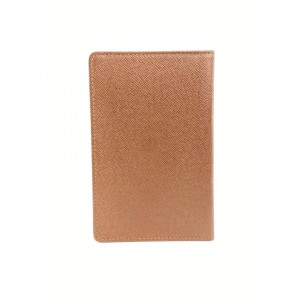Louis Vuitton Brown Leather Taiga Card Holder ID Wallet Case 5L918