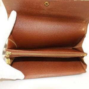 Louis Vuitton Brown Long Monogram Bifold Sarah Portefeuille 871148 Wallet