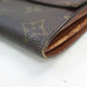 Louis Vuitton Monogram Sarah Long Wallet Portefeuille Tresor 861266