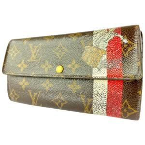 Louis Vuitton Rare Groom Bellboy Porte Tresor Sarah Long Wallet 6LVa1117