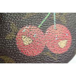 Louis Vuitton Monogram Cherries Round Coin Pouch Change Keychain Purse 293lvs513
