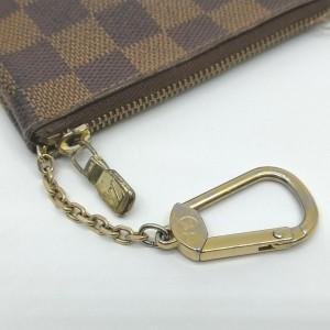 Louis Vuitton  Damier Ebene Pochette Cles Key Pouch Keychain 863082