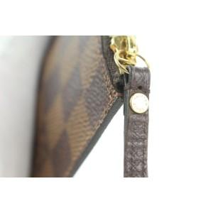 Louis Vuitton Damier Ebene Poche Zip Pouch Pochette Long Insert Wallet Z13lvs119