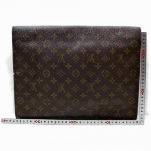 Louis Vuitton Monogram Porte Documents Senateur Pochette Briefcase Folder 860025