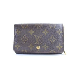 Louis Vuitton Brown Tresor Porte Monogram Porte-monnaie 20lr0605 Wallet