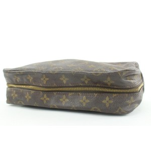 Louis Vuitton Monogram Trousse Toilette 28 Cosmetic Pouch 125lv0