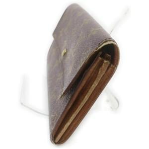 Louis Vuitton Long Monogram Sarah Wallet Porte Tresor Pochette Monnaie Credit 86158