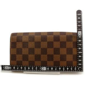 Louis Vuitton Damier Ebene Long Sarah Wallet Porte Tresor Monnaie Credit 861441