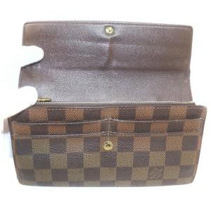 Louis Vuitton Damier Ebene Sarah Wallet  Portefeuille Tresor Porte 862279