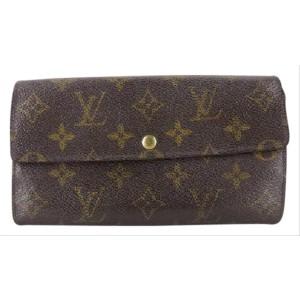 Louis Vuitton Monogram Bifold Porte Tresor Long Sarah Wallet 217986