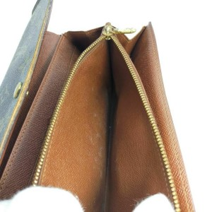 Louis Vuitton Monogram Sarah Wallet Portefeuille Porte Tresor 861596