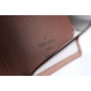 Louis Vuitton Brown Taiga Id Holder Wallet Case 220079