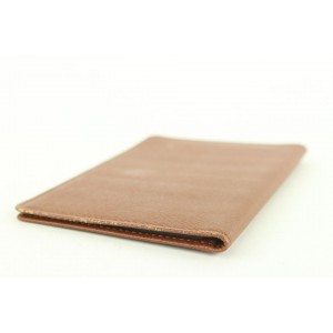 Louis Vuitton Brown Taiga Leather Card Holder Wallet Case 92lvs427