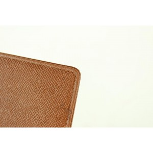Louis Vuitton Brown Taiga Leather Card Holder ID Wallet case 346lvs520