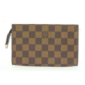 Louis Vuitton Damier Ebene Toiletry Pouch Cosmetic Case Zip Clutch 315lvs517