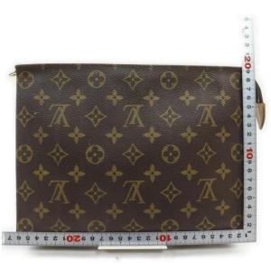 Louis Vuitton Monogram Toiletry Pouch 26 Poche Toilette Cosmetic Zip Case 861503