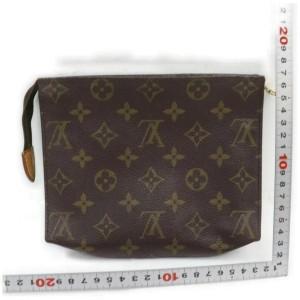 Louis Vuitton Monogram Poche Toilette 19 Cosmetic Toiletry Pouch MM 860946
