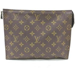Louis Vuitton Monogram Toiletry Pouch Poche Toilette Cosmetic Bag 862587