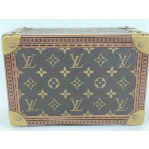 Louis Vuitton Rare Conffret Tresor 24 Monogram Box Jewelry Boite Trunk Case 1LA419