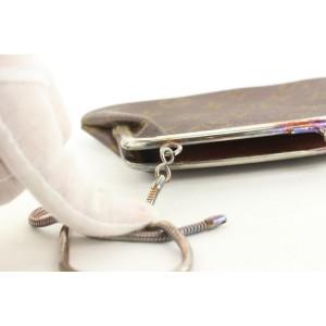 Louis Vuitton Ultra Rare Monogram Kisslock Pouch French Twist 22lvs121