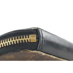 Louis Vuitton Brown x Black Micro Boite Chapeau Chain Pouch Bag Charm 242lvs212