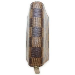 Louis Vuitton Damier Ebene Zippy Coin Purse Compact Zip Around Wallet 861009