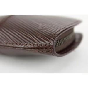Louis Vuitton Moka Brown Epi Leather Demi Lune Zippy Coin Purse 14lvs1230