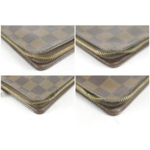 Louis Vuitton Damier Ebene Zippy Wallet Zip Around Long 6LK1210