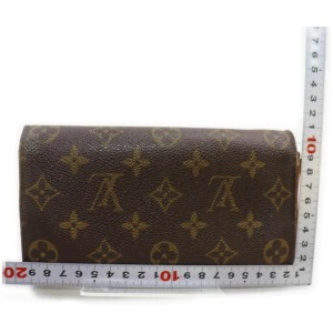 Louis Vuitton Monogram Long Sarah Wallet Porte Tresor Monnaie Credit 860817