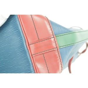Louis Vuitton Bucket Hobo Tricolor Green Red Noe Gm Drawstring 14lk1230 Blue Epi Leather Shoulder Bag