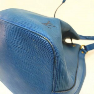 Louis Vuitton Blue Epi Toledo Petite Noe Drawstring Bucket 861212