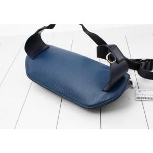 Louis Vuitton Circle Logo Bum Bag Initials Blue Epi Leather 860765