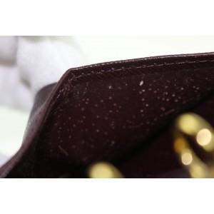 Louis Vuitton Burgundy Bordeaux Agenda Pm Small Ring Cover 26lz0925 Wallet
