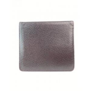 Louis Vuitton Bordeaux Taiga Leather Bifold Wallet Card Holder 15L918