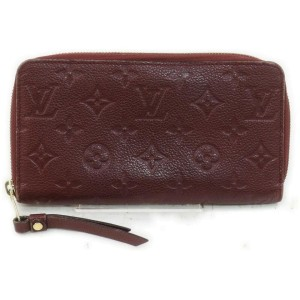Louis Vuitton Bordeaux Empreinte Leather Monogram Zippy Wallet Zip Around 862064