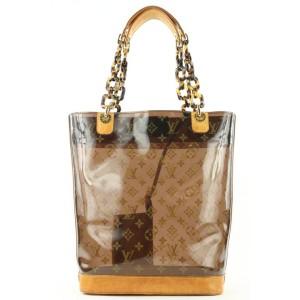 Louis Vuitton Rare Clear Monogram Ambre Neo Cabas MM Tote bag 862946