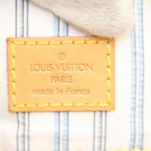 Louis Vuitton Cabas Mini Lin Monogram Tanger 868182 White Canvas Shoulder Bag