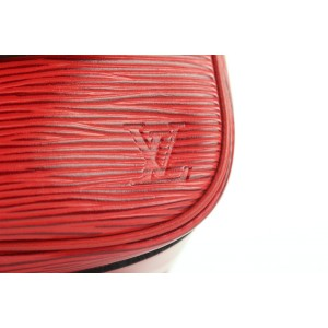 Louis Vuitton Red Epi Leather Cartouchiere Crossbody Bag 225lvs210