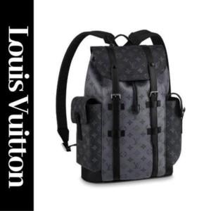 Louis Vuitton Monogram Eclipse Reverse Christopher Backpack Black Silver 860929