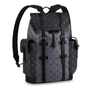 Louis Vuitton Monogram Eclipse Reverse Christopher Backpack Black Silver 860929