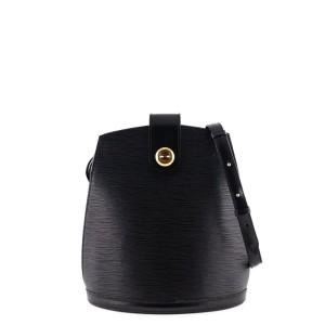 Louis Vuitton Cluny Noir 868387 Black Leather Cross Body Bag