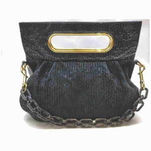 Louis Vuitton Limited Edition Black Monogram Motard Before Dark Chain Clutch 860427