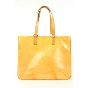 Louis Vuitton Yellow-Orange Monogram Vernis Columbus Zip Tote  862615